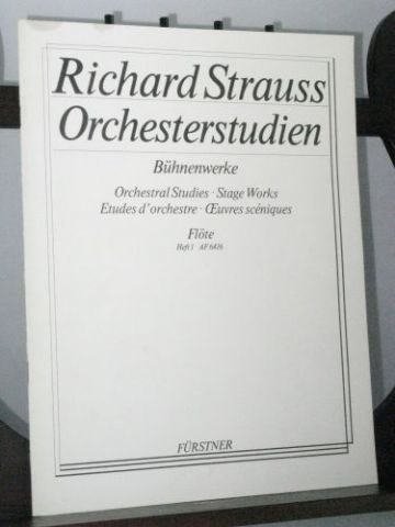Strauss R - Orchestra Studies from the Stage Works Flute Book 1